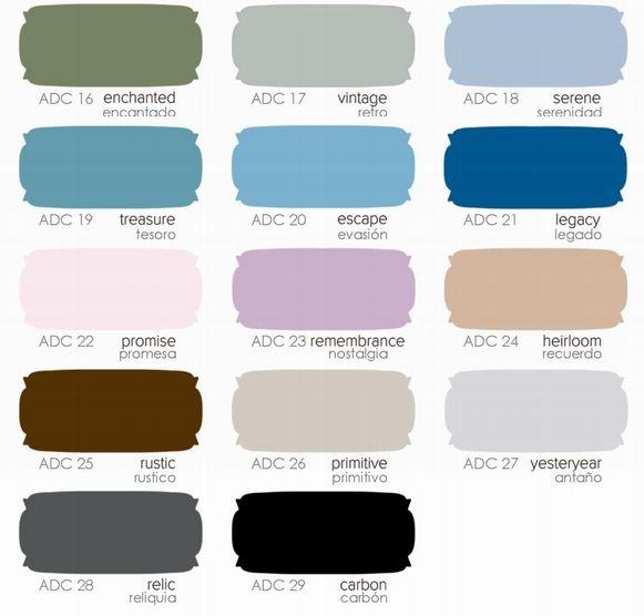 Chalky finish pintura acabado tiza shop online promesa by - Muebles pintados de colores ...