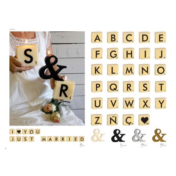 Velas letras abc scrabble shop online promesa by isabella for Letras scrabble decoracion